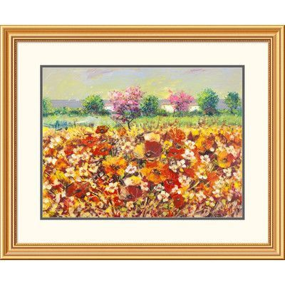 "Global Gallery 'Colori di primavera' by Luigi Florio Framed Painting Print Size: 28"" H x 34"" W x 1.5"" D"