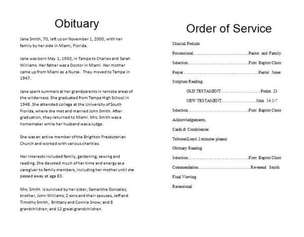 The Inspiring Memorial Service Program Template Download Memorial With Regard To R Funeral Templates Funeral Program Template Free Memorial Service Program