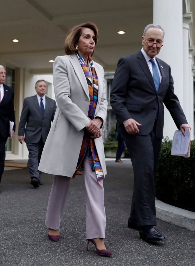 A Look At House Speaker Nancy Pelosi S Power Pumps In 2020 Fashion Nancy Pelosi Coat Fashion