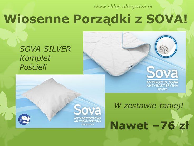 A jak już posprzątacie, zapraszamy na www.sklep.alergsova.pl po nową pościel. Zestawy SOVA SILVER czekają. Zapraszamy! #astma #alergia #roztocza #atopowe #promocja