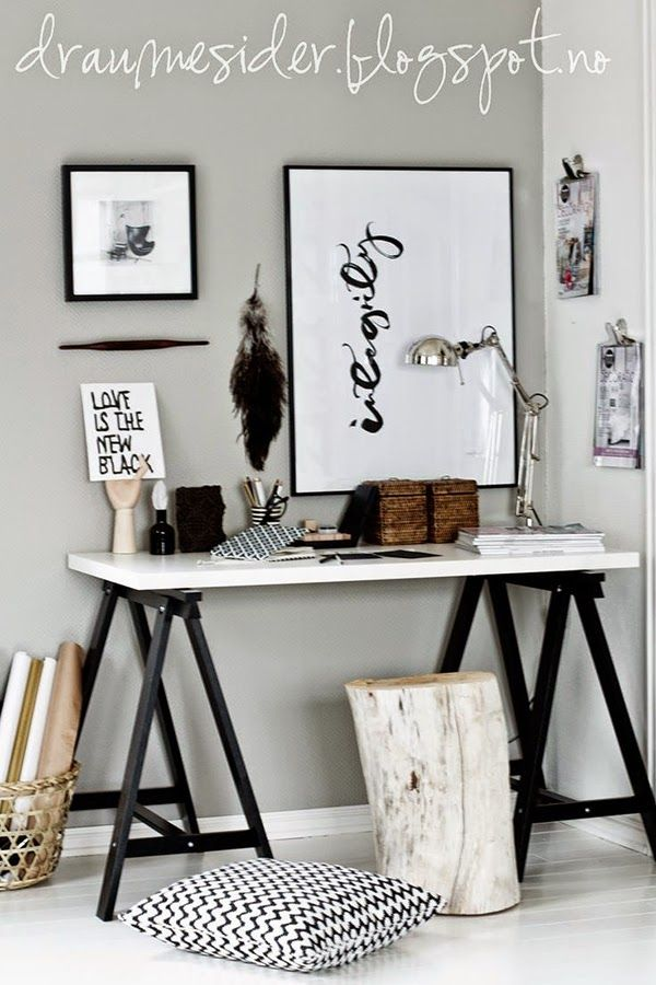 Ideas deco oficina en casa estudio despacho estilo nordico for Ideas despacho en casa
