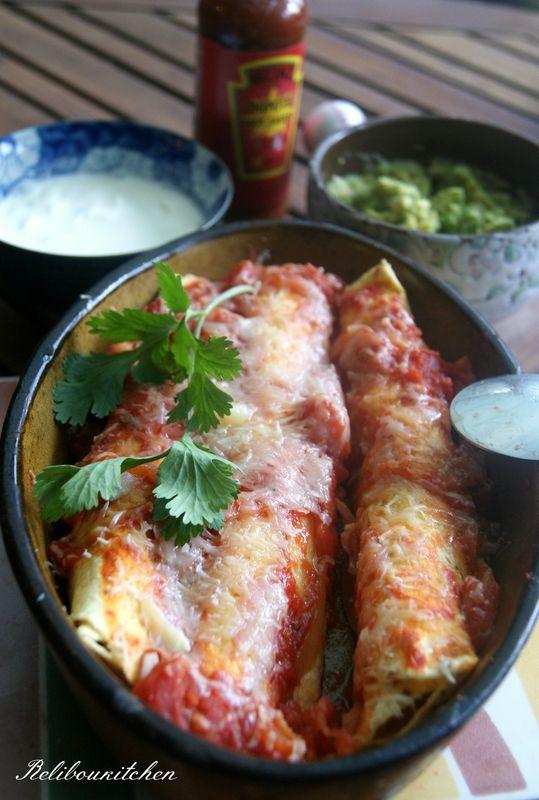 Enchiladas poulet mexicain