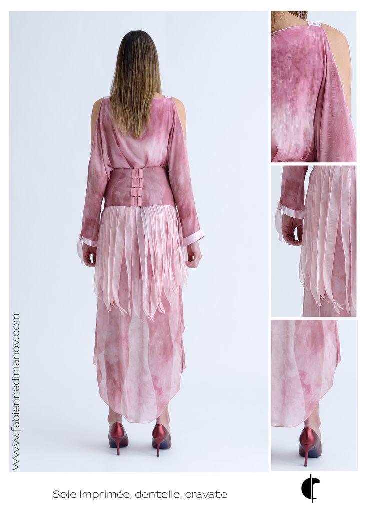 Robe de Cérémonie, soie et cravate. #fabiennedimanov