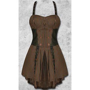 Penny Farthing Steampunk Dress Living Dead Souls Voodoo Vixen Gothic Punk Horrorpunk Dresses Clothing