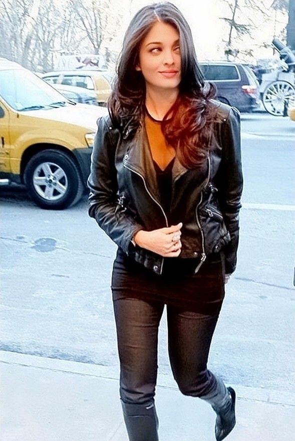 Aishwarya Rai Fashion Leather Jacket Bomber Jacket