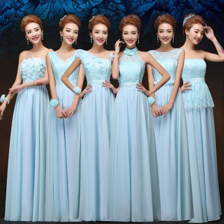 Find More Information about Long Sky Blue Bridesmaid Dress Fashion Chiffon Lace Slim Elegant Dresses For Wedding Party 6 Miexed Styles Greek Goddess Dress ,High Quality lace up boots heels,China lace princess wedding dresses Suppliers, Cheap lace pencil dress from Princess Sally International Co.,Ltd. on Aliexpress.com