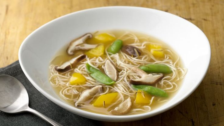 Shiitake mushrooms add an earthly flavor to this simple soup.