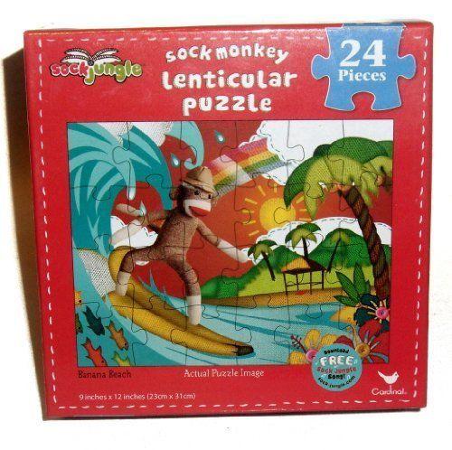"Sock Monkey Lenticular Puzzle ""Banana Beach"" 24 Pieces by... https://www.amazon.com/dp/B00U1ZRQ8S/ref=cm_sw_r_pi_dp_x_uXa2ybS74FRZJ"