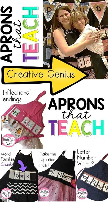 Sandy is the creative genius behind show and tell aprons!