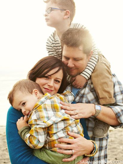 Love this way to do a family photo. The composition is awesome...plus there's all that lovin'.