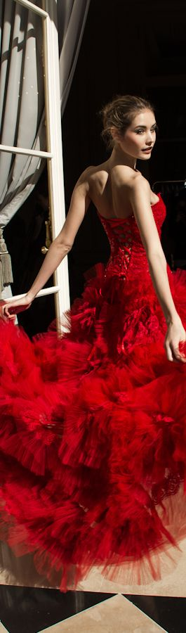 Evening gown, couture, evening dresses, formal and elegant Zuhair Murad SS 2013  red