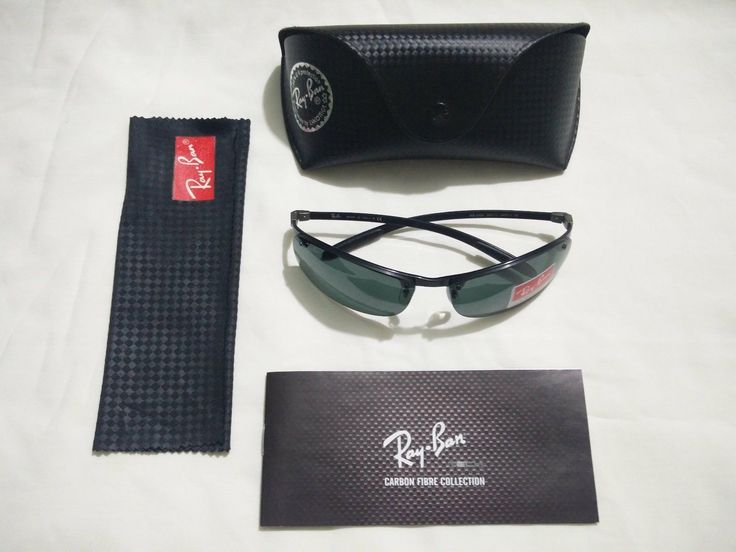 ray ban mens rb8305 carbon fibre sunglasses  nwt new ray ban rb 8305 082/71 dark grey carbon fibre sunglasses 64 mm