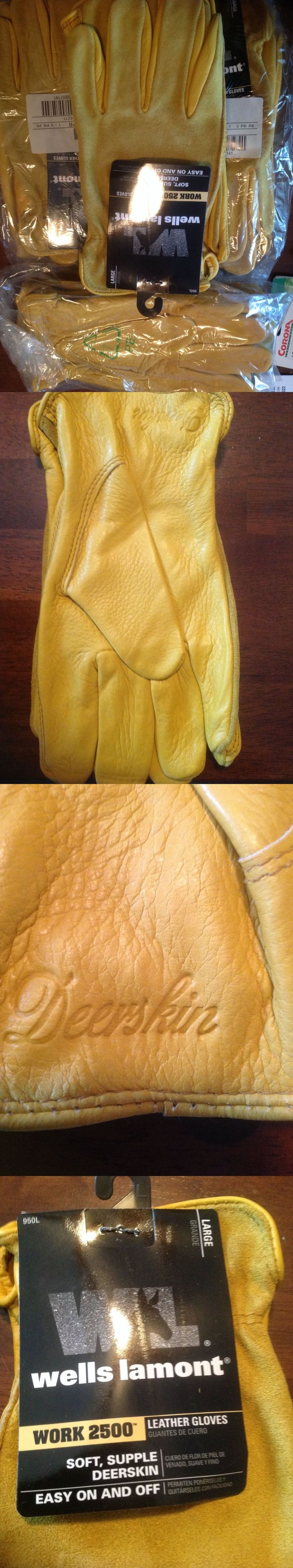 Gloves and Mittens 2994: One Dozen Leather Deerskin Gloves Wells Lamont Size Large -> BUY IT NOW ONLY: $85 on eBay!