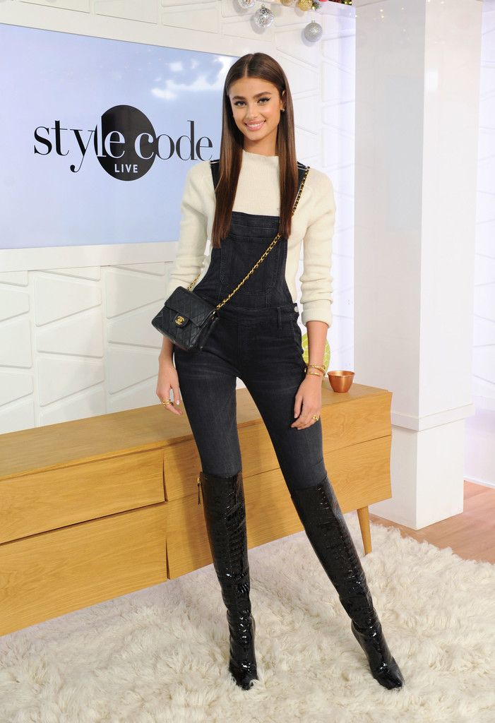 Taylor Hill Photos Photos: Taylor Hill Appears On Amazon's Style Code Live – boots