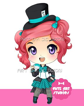Mad Hatter Girl Chibi by crowndolls