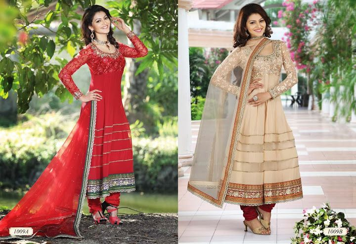 LONG ANARKALI SUITS  D.No. 1009  @4,655/-only  ORDER:PLEASE SEND US EMAIL