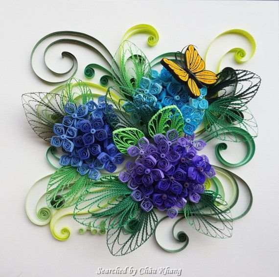 Unknown artist- Quilling about flowers and animals (Searched by Châu Khang)
