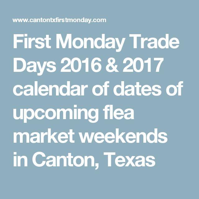 Trade Days 2016 & 2017 calendar of dates of upcoming flea market ...