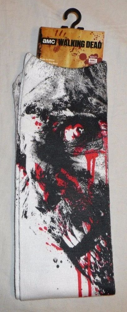 The Walking Dead Bloody Zombie Socks - AMC TWD Walkers New 2015 Detailed Graphic #AMC