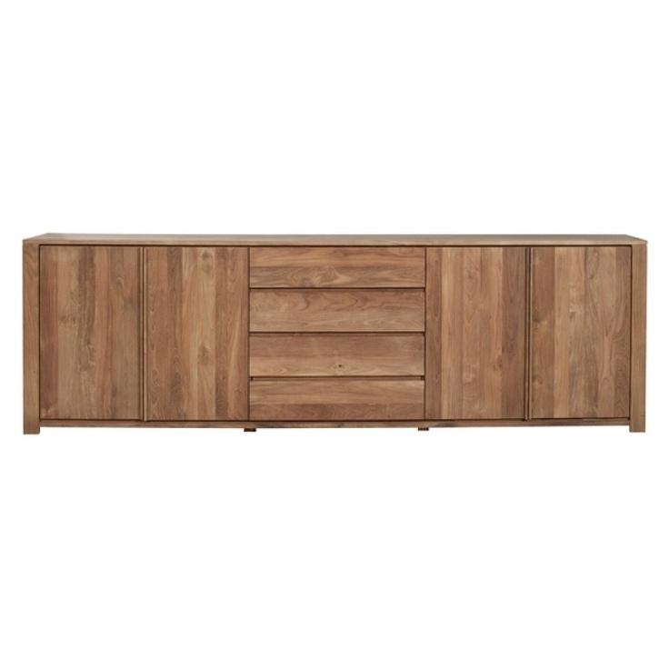 Buffet Teck Massif Lodge Ethnicraft 4 portes-3 tiroirs