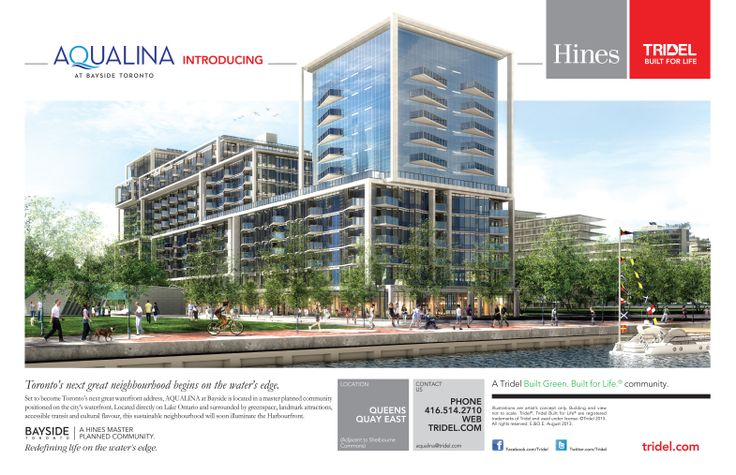 Silver: Newspaper campaign for Tridel's Aqualina at Bayside Toronto