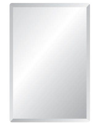 27 inch x 48 inch mirror with white frame  Bath Depot