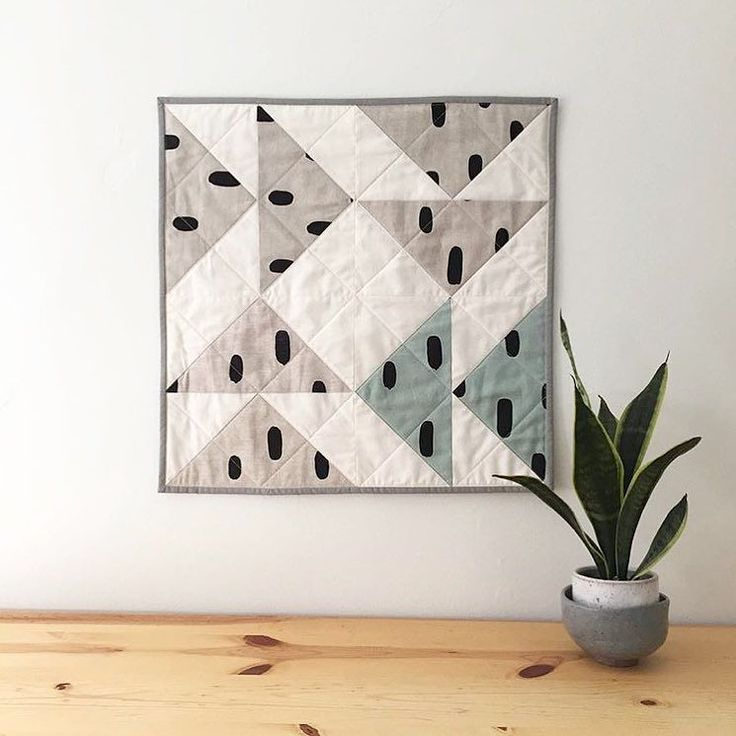 Love this mini-quilt that @saltyoat created with the Cotton & Flax scraps I sent her! She is totally inspiring me to get back into quilting. | @cottonandflax