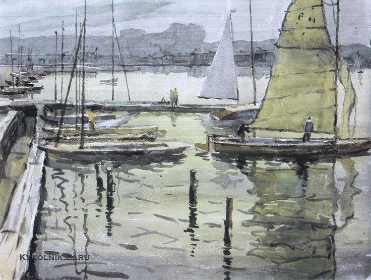 Волков Николай Николаевич (1897-1974) «Яхт-клуб» 1968