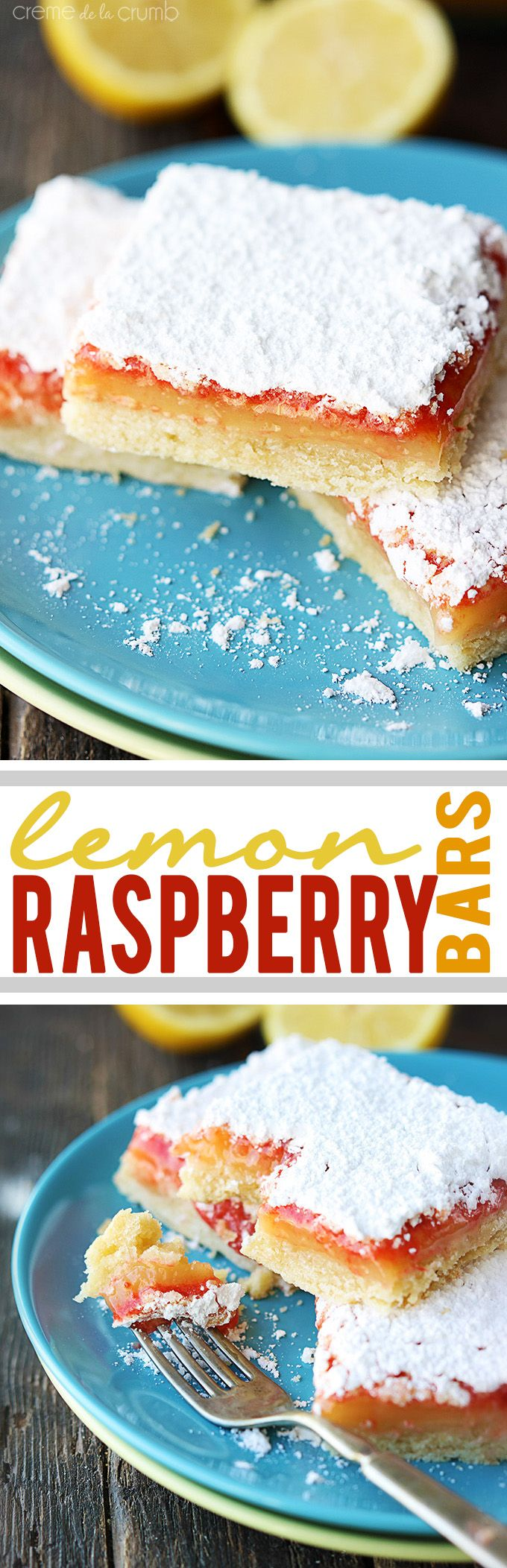Raspberry Lemon Bars - like classic lemon bars but with an added layer of raspberry deliciousness!