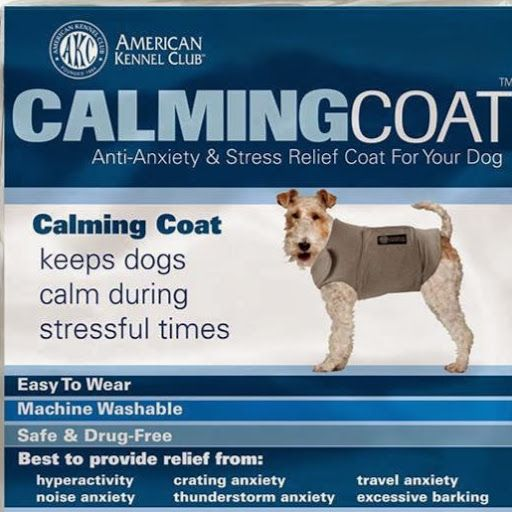 Keep your dog calm during stressful times with the #AKC #CalmingCoat!