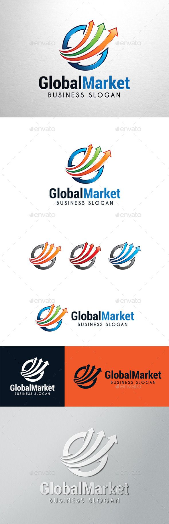 Global Market Graph Logo Template Vector EPS, AI. Download here: http://graphicriver.net/item/global-market-graph-logo/11392848?ref=ksioks