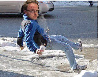 Even the great Andy Jenks himself falls with such forehead-creasing grace. #closehcps
