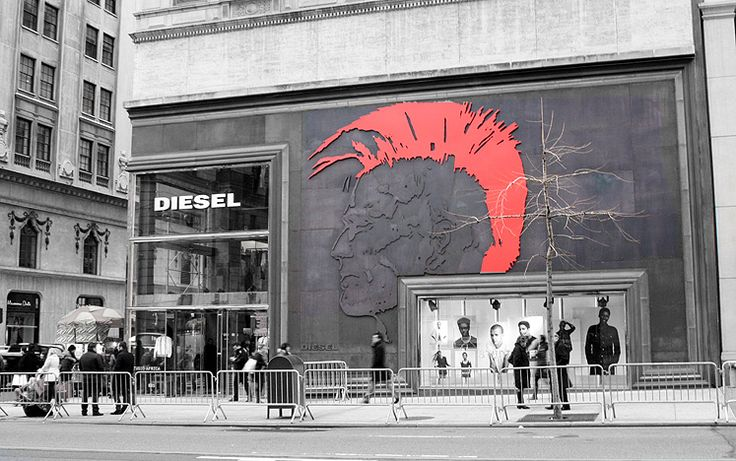 Diesel Store on Kurfuerstendamm Stock