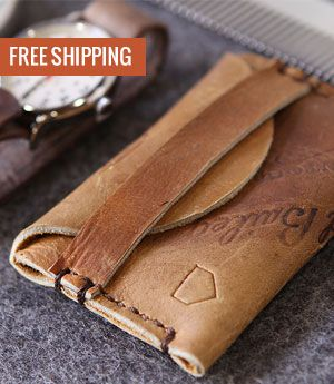 Leather wallets made from repurposed baseball gloves