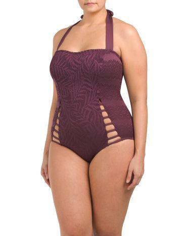 2ecddaa9065 Plus Crochet Princess Bandeau One-piece Swimsuit - Swimwear - T.J.Maxx