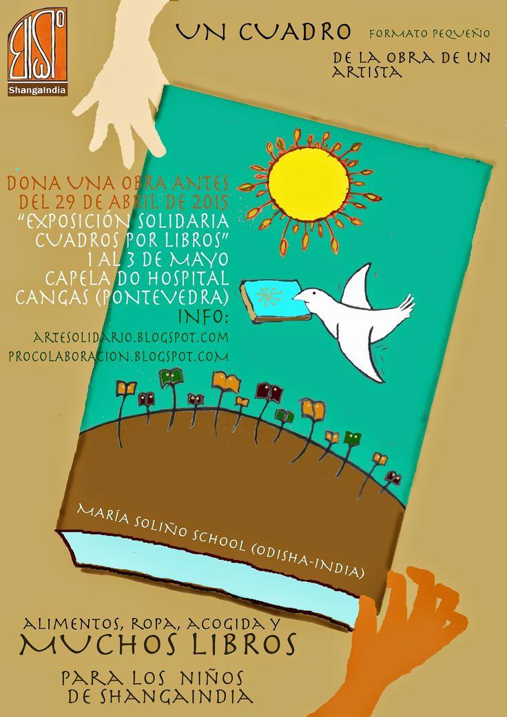 """proxecto de colaboración ESCOLAS DO MUNDO: """"Cuadros por libros"""" alimentos, ropa y acogida par..."""