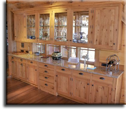 Wormy Maple Wood Cabinets While These Pictures Show