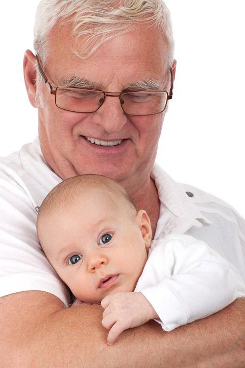 Chłopiec, Kaukaski, Dziecko, Wnuczka, Dziadek, Wnuk