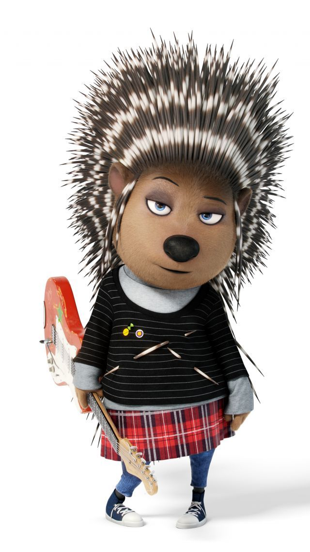 Sing, porcupine, ash, scarlett johansson, best animation movies of 2016
