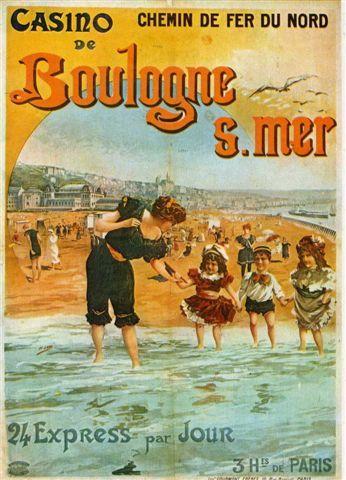 """Affiche """"Chemin de Fer du Nord"""" - Boulogne sur Mer                                                                                                                                                      Más"""