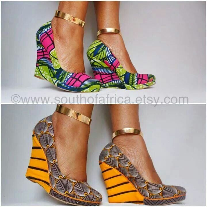 ❤ SHOES wedges print pattern colour