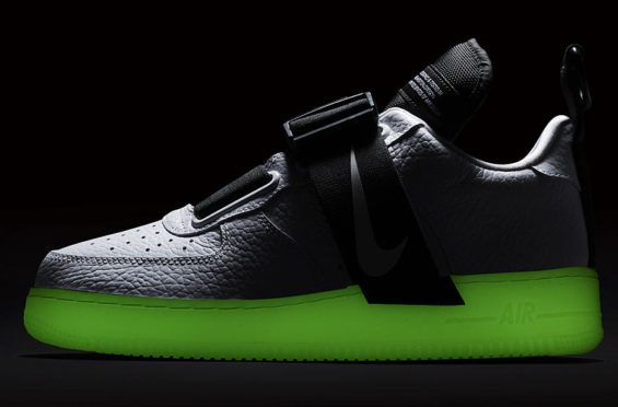 brand new cf0fc 56891 A Nike Air Force 1 Low Utility in whiteblack is introduced with  glow-in-the-dark soles and its dropping at Nike stores soon.