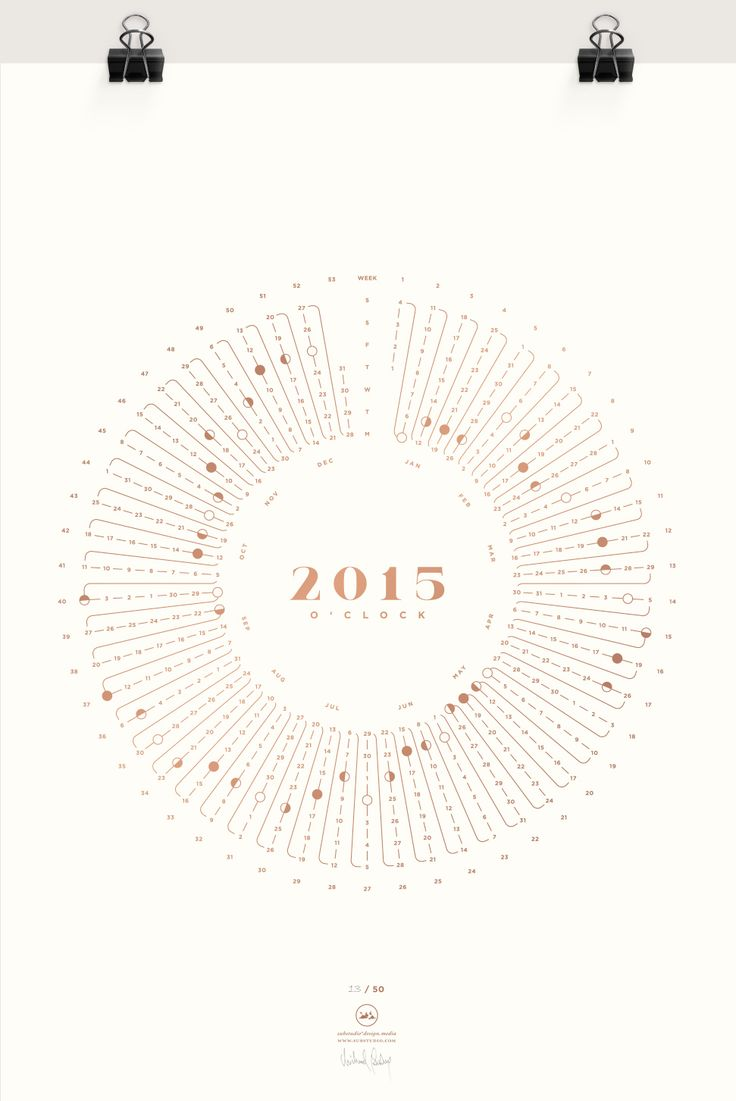 2015 o'clock - a yearly calendar silkscreen print. http://www.substudio.com/work/2015oclock/