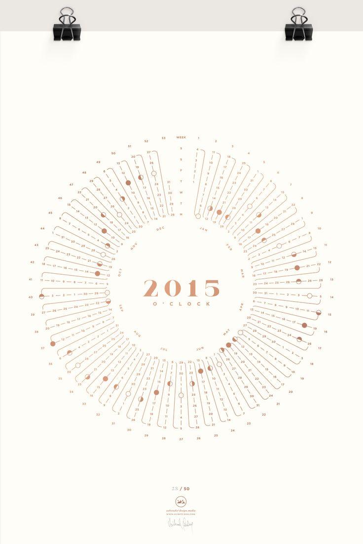 2015 o'clock - a yearly calendar silkscreen print. http://www.substudio.com/work/2015oclock/