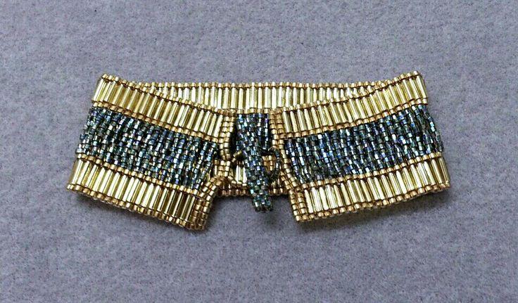 Gold Toggle Cuff Bracelet