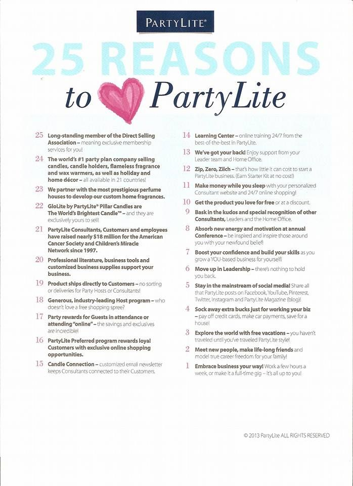 Partylite Business Plan