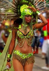 """Mashramani, a celebration for all Guyanese people to come together as """"one nation, one people"""" (Guyana's motto) to enjoy a day of dance and music."""