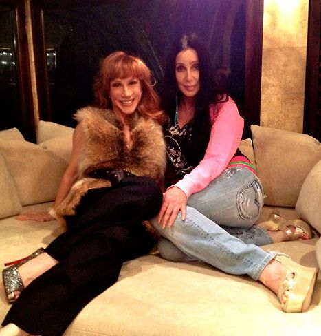 Kathy Griffin Has a Slumber Party at Cher's House! - Us Weekly