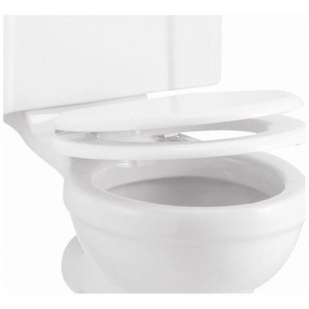 ington Soft Close Toilet Seat - White.<br><br> - Finishes: Urea / Polished<br> - Product Type: Traditional<br> - Material: Carbamide seat with zinc Alloy
