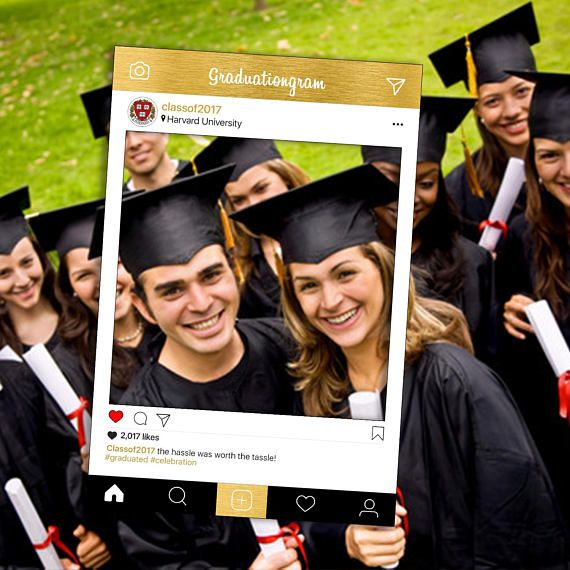 Graduation digital Instagram frame / photo booth props  ★ Lightning quick production times ★★ High quality, premium graphics ★★★ Multiple print ready file provided ★★★★ Complete customization with unlimited edits Please note: You are purchasing a DIGITAL FILE of the frame which you can